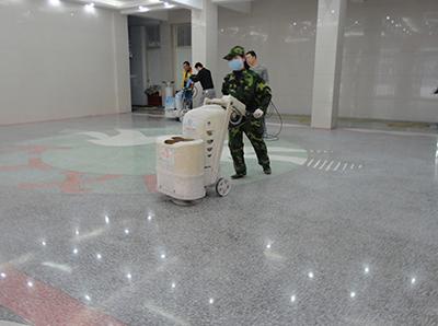 襄阳职业技术学院水磨石翻新