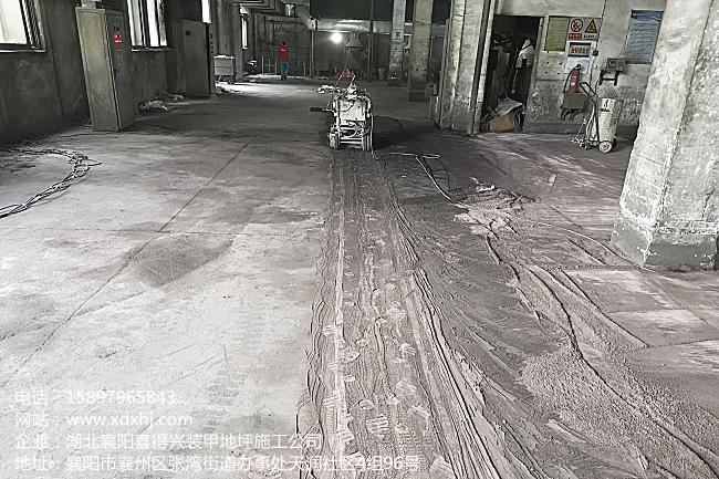 湖摩(飞龙)出口生产基地——车间金刚砂地面改造