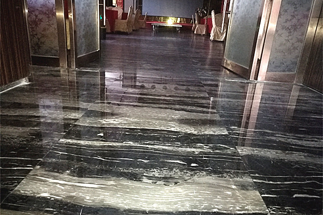 枣阳极品天下大酒店——石材浅翻新玻化处理